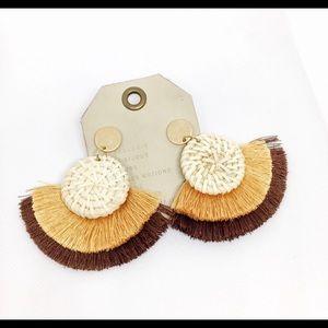 NWT Anthropologie Fan Tassel Earrings